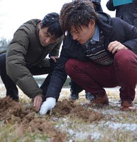 土壌サンプリングによる放射性物質測定